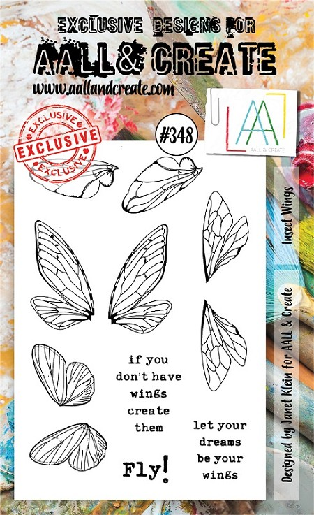AALL & Create - Clear Stamp A6 size - Set #348 Insect Wings