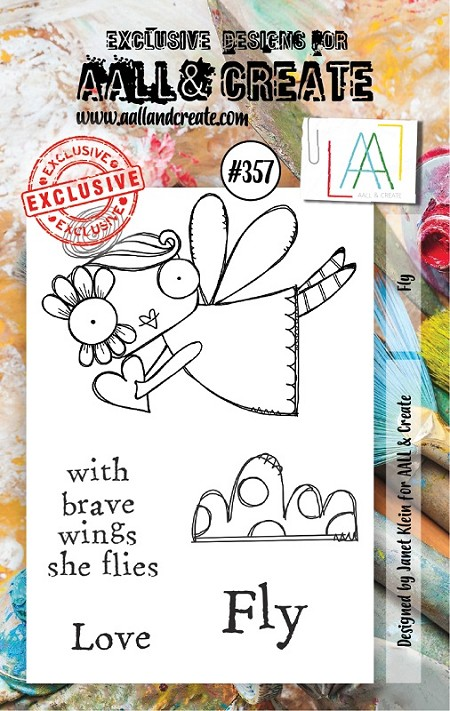 AALL & Create - Clear Stamp A7 size - Set #357 Fly