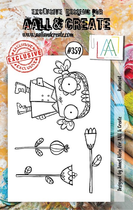 AALL & Create - Clear Stamp A7 size - Set #359 Raincoat
