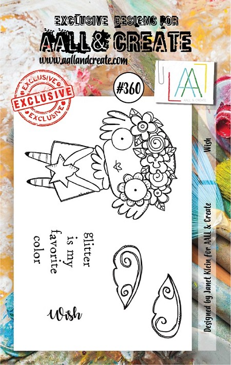 AALL & Create - Clear Stamp A7 size - Set #360 Wish