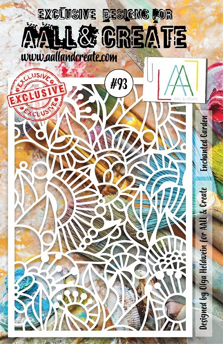 AALL & Create - A5 Stencil #93 Enchanted Garden