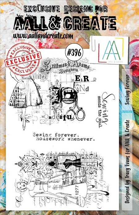 AALL & Create - Clear Stamp A5 size - Set #396 Sewing Forever