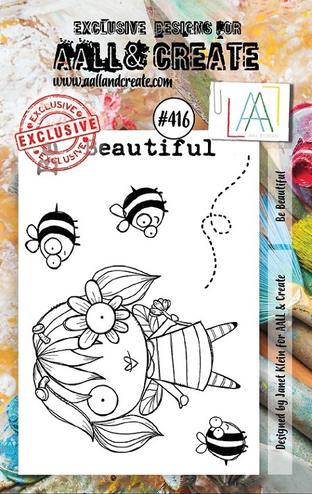 AALL & Create - Clear Stamp A7 size - Set #416 Be Beautiful