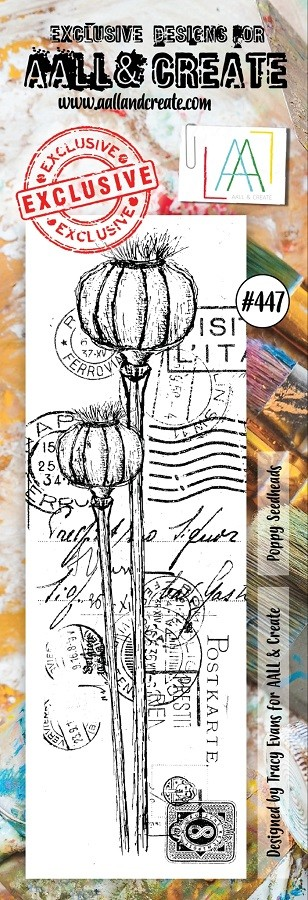 AALL & Create - Clear Stamp Border - Set #447 Poppy Seedheads