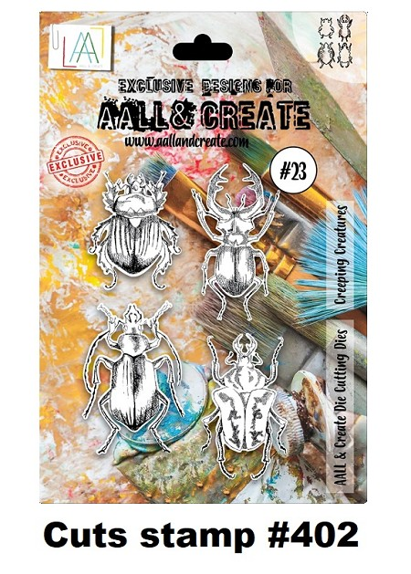 AALL & Create - Clear Stamp A6 size - Die #23 Crawling Creatures (cuts stamp #402)