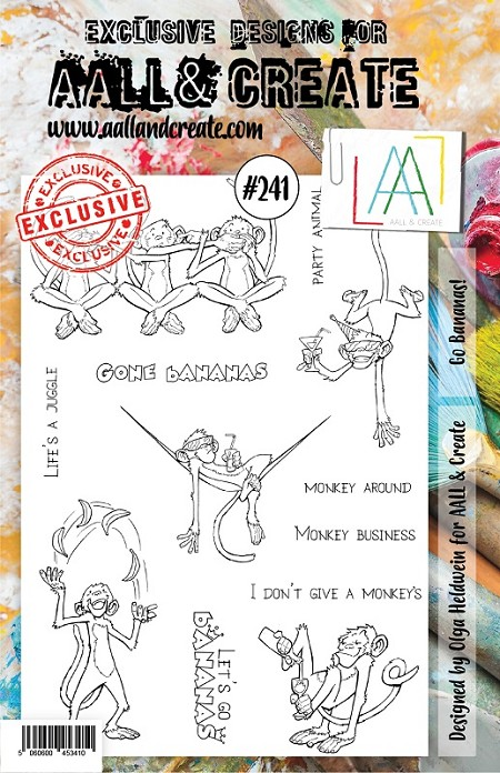 AALL & Create - Clear Stamp A5 size - Set #241 Go Bananas!