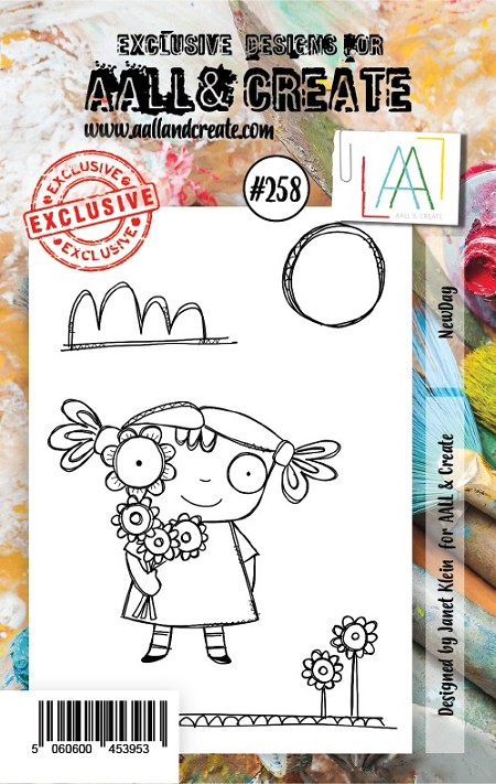 AALL & Create - Clear Stamp A7 size - Set #258 New Day