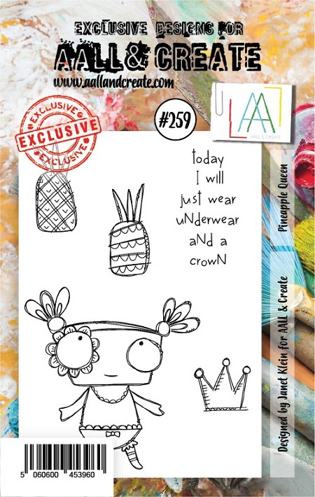 AALL & Create - Clear Stamp A7 size - Set #259 Pineapple Queen