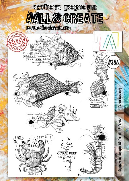 AALL & Create - Clear Stamp A4 size - Set #386 Ocean Wonders