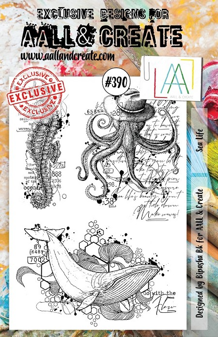AALL & Create - Clear Stamp A5 size - Set #390 Sea Life