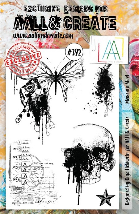 AALL & Create - Clear Stamp A5 size - Set #392 Memento Mori