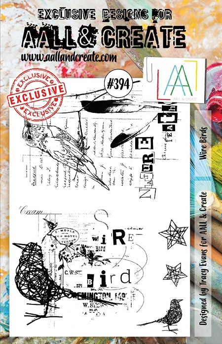 AALL & Create - Clear Stamp A5 size - Set #394 Wire Birds