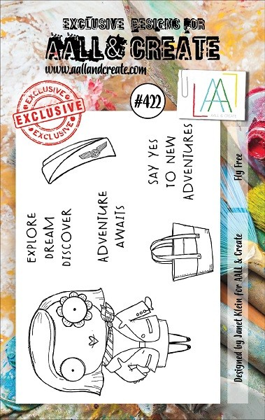 AALL & Create - Clear Stamp A7 size - Set #422 Fly Free