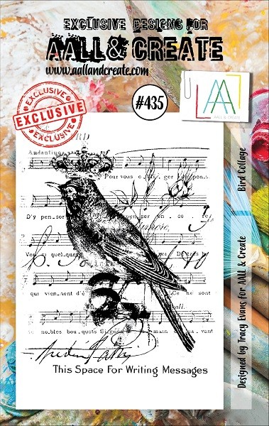 AALL & Create - Clear Stamp A7 size - Set #435 Bird Collage