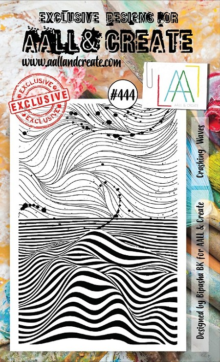 AALL & Create - Clear Stamp A6 size - Set #444 Crashing Waves
