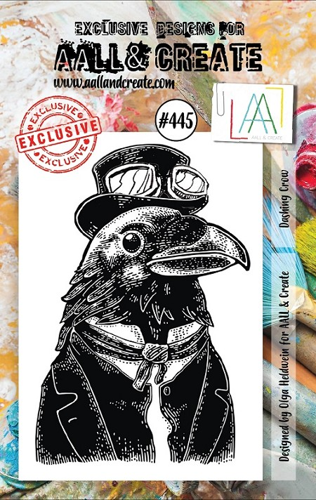 AALL & Create - Clear Stamp A7 size - Set #445 Dashing Crow