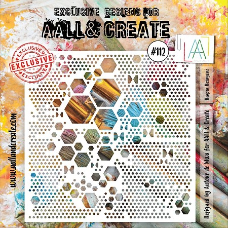 AALL & Create - Heapza Hexagonz 6x6 Stencil #112