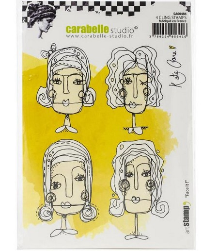 Carabelle Studio - Cling Stamp - Face It! By Kate Crane