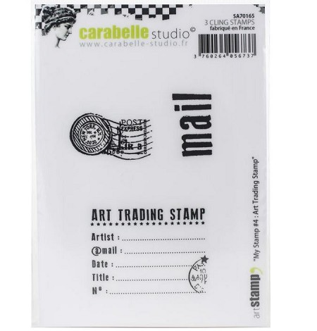 Carabelle Studio - Cling Stamp - My Stamp #4: Art Trading Stamp