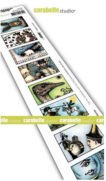 Carabelle Studio - Cling Stamp - 8 Labels: Fantasy