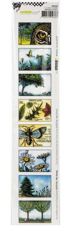 Carabelle Studio - Cling Stamp - 8 Labels: Au Grand Air