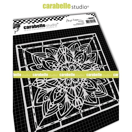 Carabelle Studio - Stencil Mask - Square Floral Stained Glass