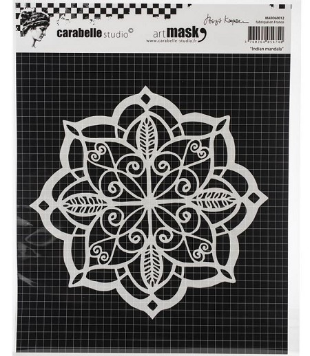 Carabelle Studio - Round Art Mask - Indian Mandala
