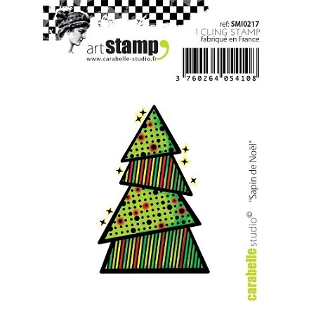 Carabelle Studio - Cling Stamp Set - Sapin de Noel (Christmas Tree)