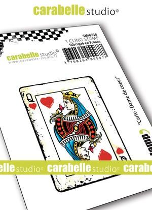 carte dame de coeur Carabelle Studio   Cling Stamp   Carte: Dame de cœur