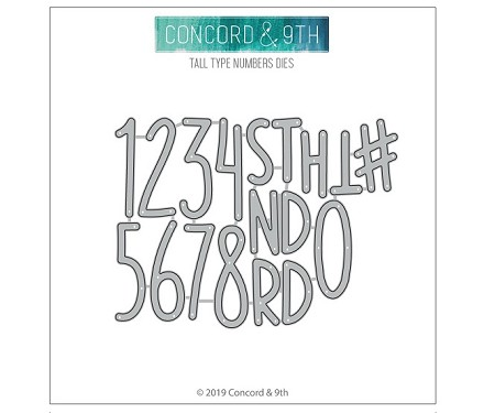 Concord & 9th - Die - Tall Type Numbers