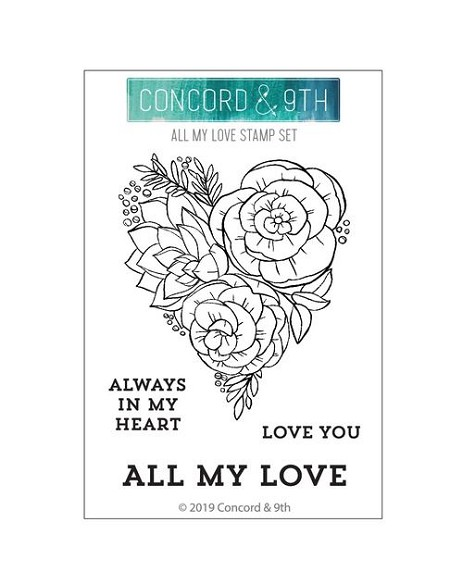 Concord & 9th - Clear Stamp - All My Love