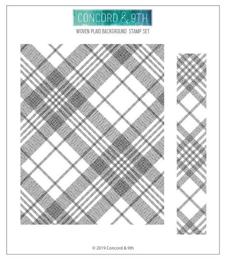 Concord & 9th - Clear Stamp - Woven Plaid Background