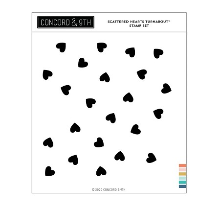 Concord & 9th - Clear Stamp - Scattered Hearts Turnabout™