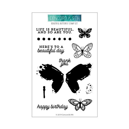 Concord & 9th - Clear Stamp - Beautful Butterfly