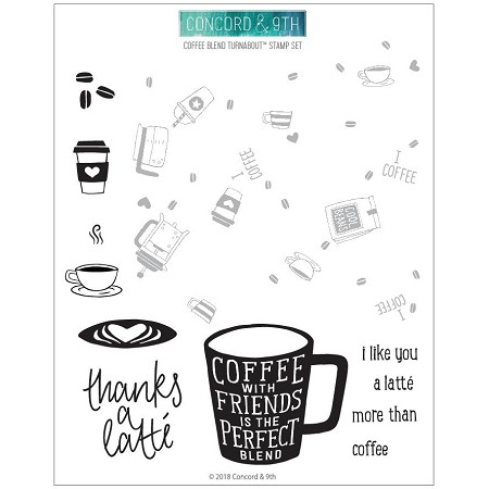 Concord & 9th - Clear Stamp - Coffee Blend  Turnabout™