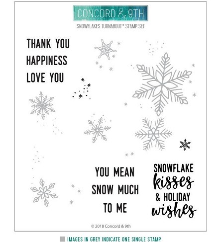 Concord & 9th - Clear Stamp - Snowflakes Turnabout™
