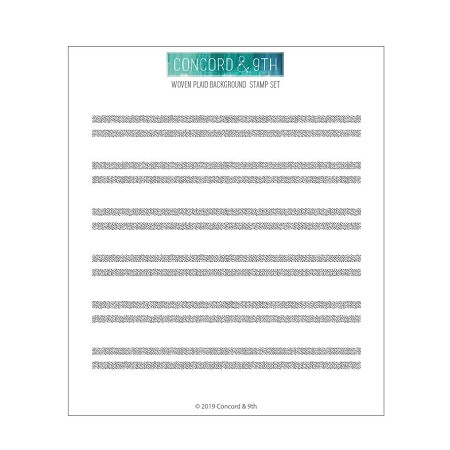 Concord & 9th - Clear Stamp - Woven Stripes Background