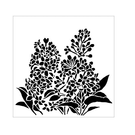 "The Crafter's Workshop 6""x6"" Stencil - Lilacs"