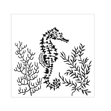 "The Crafter's Workshop 6""x6"" Stencil - Seahorse"