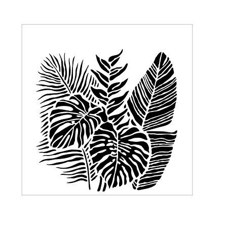 "The Crafter's Workshop 6""x6"" Stencil - Tropical Fronds"