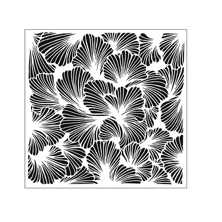 "The Crafter's Workshop 6""x6"" Stencil - Lush Petals"