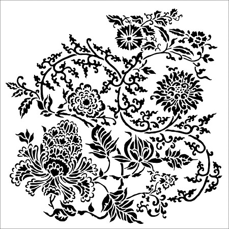 "The Crafter's Workshop 12""x12"" Stencil - Asian Floral"