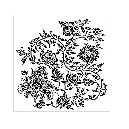"The Crafter's Workshop 6""x6"" Stencil - Asian Floral"