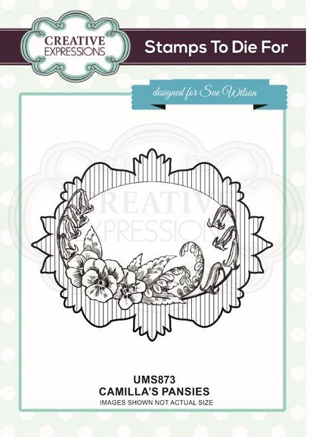 Sue Wilson Designs - Cling Mounted Stamp - Camilla's Pansies