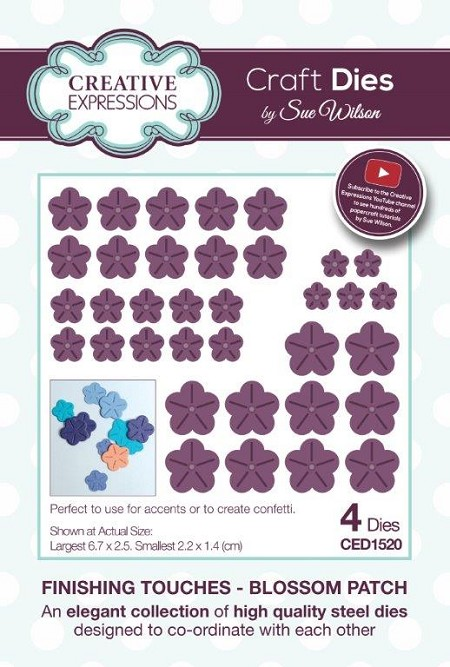 Sue Wilson Designs - Die - Finishing Touches Collection - Blossom Patch