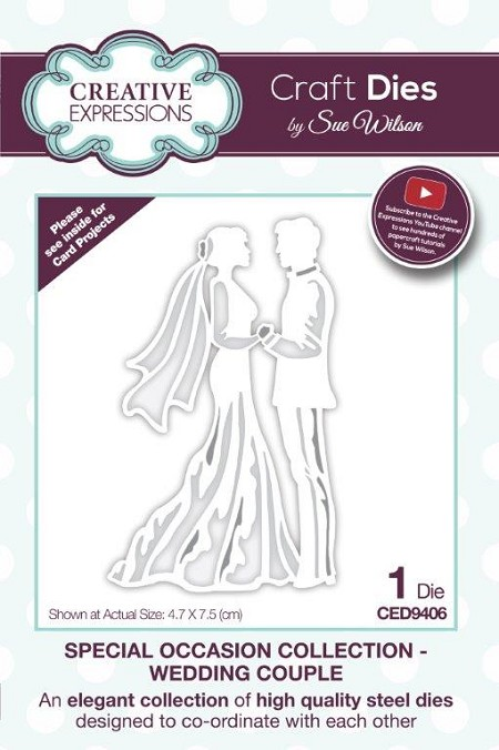 Sue Wilson Designs - Die - Special Occasion Collection - Wedding Couple