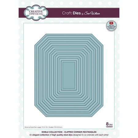 Sue Wilson Designs - Die - Noble Collection - Clipped Corner Rectangles