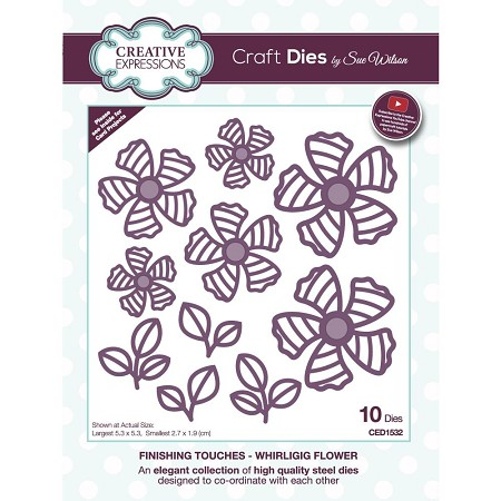 Sue Wilson Designs - Die - Finishing Touches Collection - Whirligig Flower