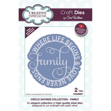 Sue Wilson Designs - Die - Circle Sayings Collection - Family