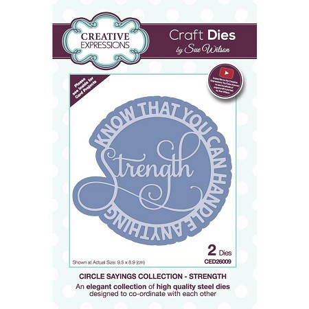 Sue Wilson Designs - Die - Circle Sayings Collection - Strength